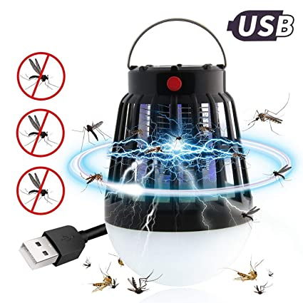 2-in-1 Mosquito Killer Bug Zapper Outdoor Camping Lamp, Waterproof
