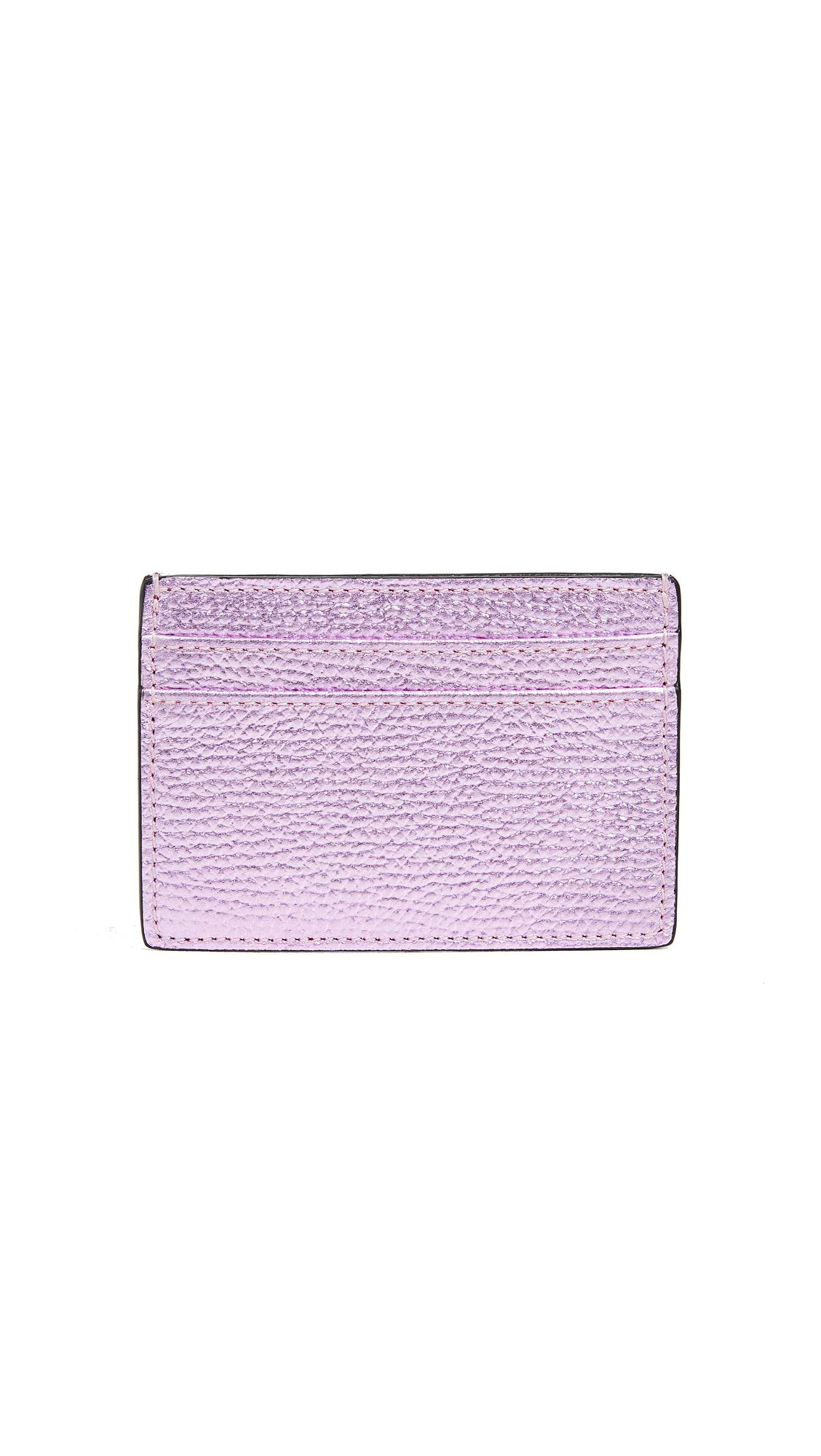 Smythson Women's Metallic Leather Flat Card Holder, Old Rose/Blush, One Size