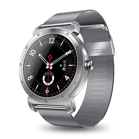 Cebbay Reloj Inteligente IPS Pantalla Redonda K88H Plus Monitor de Pulso cardiaco Reloj de Hombre Reloj