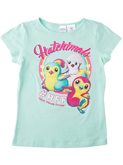 Amazon.com: Hatchimals Camiseta de manga corta para niñas ...