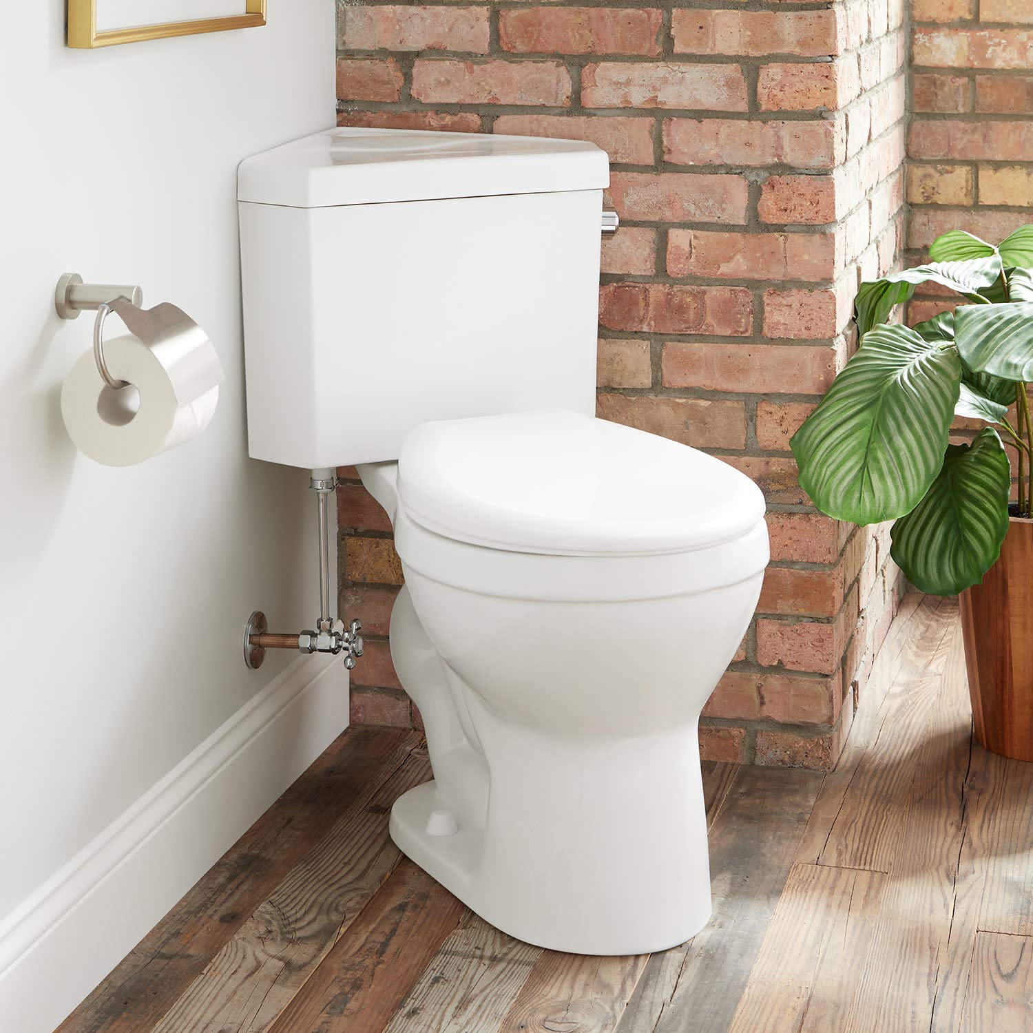 Signature Hardware 443130 Braeburn 1.28 GPF Two Piece Round Chair Height Toilet - Standard Seat Included by Signature Hardware