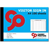 visitors sign in out log book ideal for schools day care centres