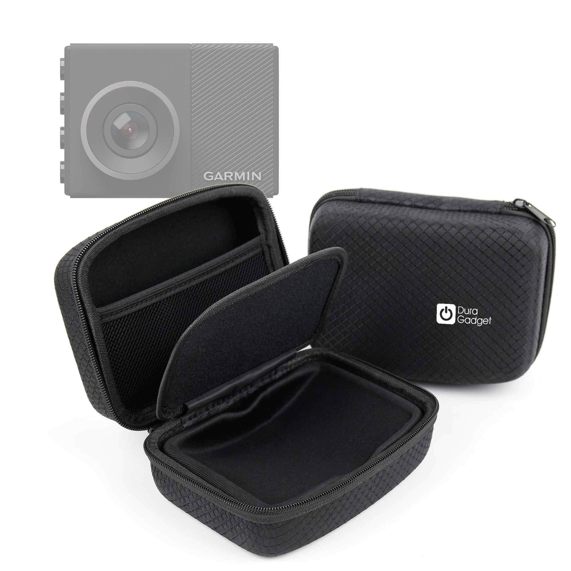 DURAGADGET Deluxe Hard EVA Box Case in Black - Compatible with The Garmin Dash Cam 65W | Garmin Dash Cam 45 | Garmin Dash Cam 55 | by DURAGADGET