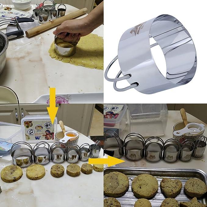 Set de cortadores de hojaldre Juego de cortador de galletas (5 ...