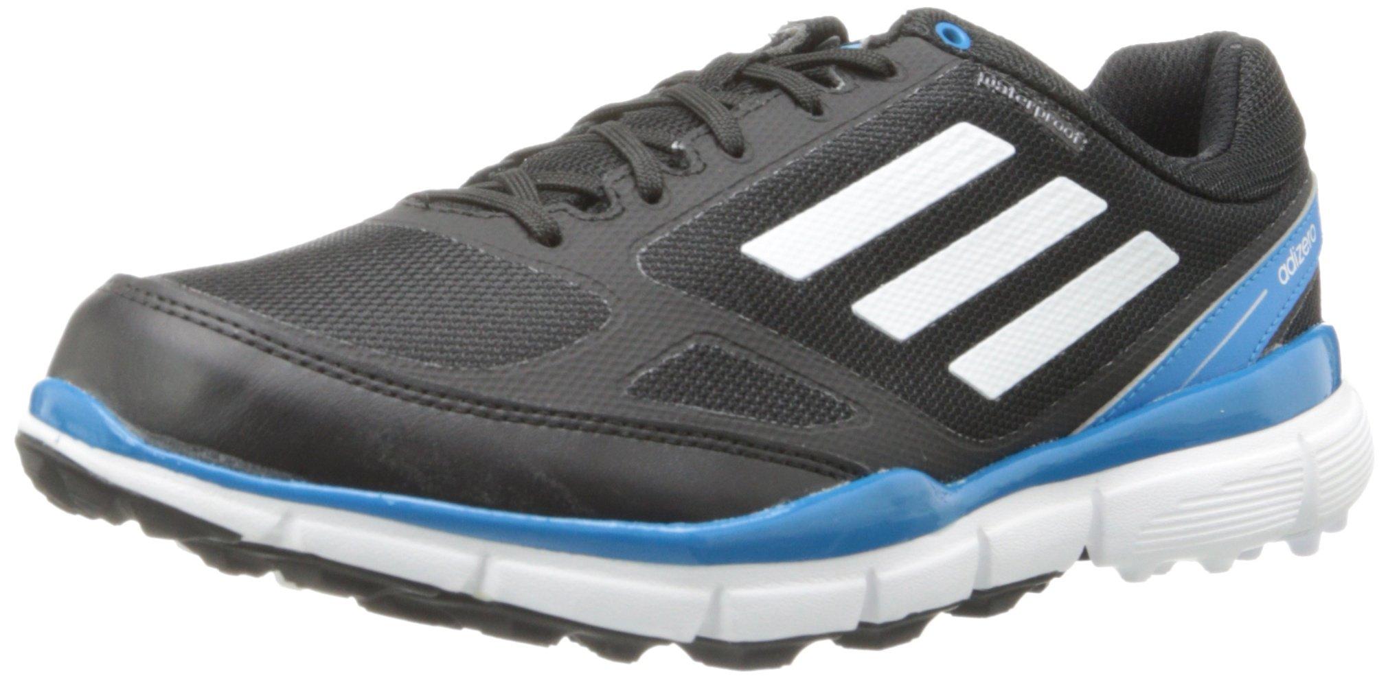 adidas Women's Adizero Sport II Golf Shoe,Black/White/Solar Blue,10 M US