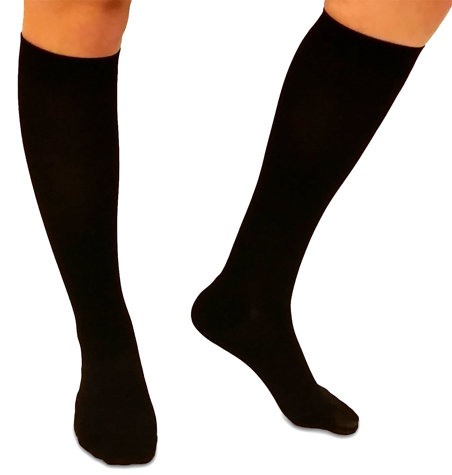 Compression Socks, Extra Firm Support - Knee High Gradient Compression, Unisex, mmhg Rating Tested and Quality Assured. Designed to help return blood back to your heart and promote your leg health