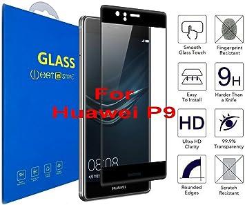 Huawei P9 - Curvo 3D Cristal Templado Protector de Pantalla, 3D ...