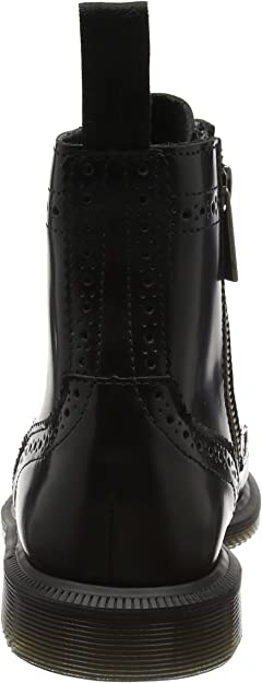 Dr. Martens Delphine Black Polished Smooth, Bottes Femme