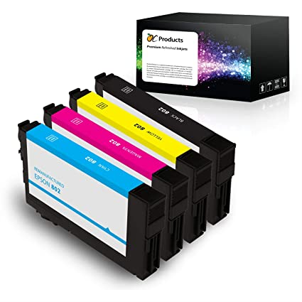 OCProducts Remanufactured Epson 802 Ink Cartridge 4 Pack for WorkForce Pro  WF-4720 WF-4730 WF-4734 WF-4740 Printers