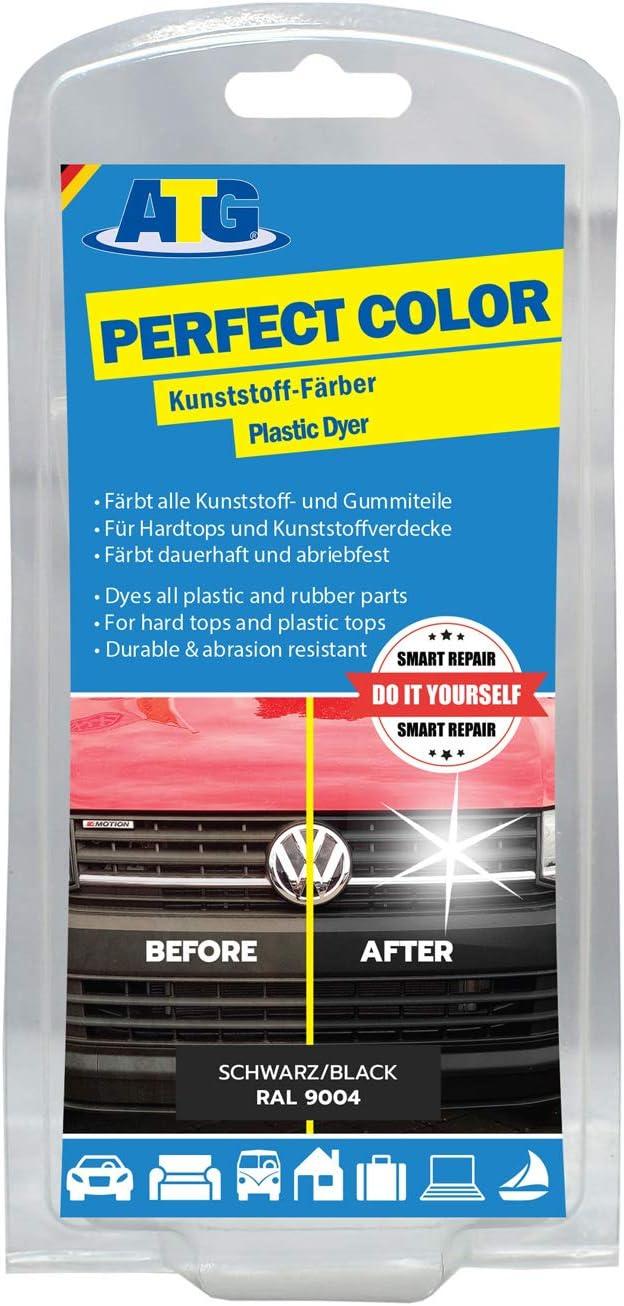 ATG Restaurador de plasticos: Pintura para plasticos reparador Parachoques,Negro