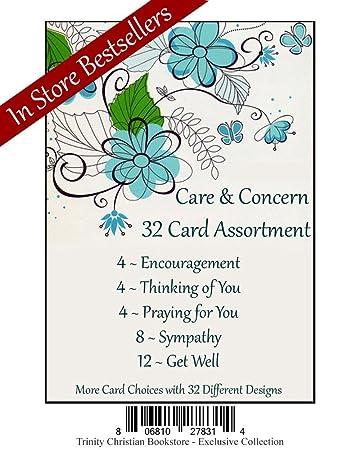 Amazon.com: Care & preocupación Premium Tarjeta de 32 Set w ...