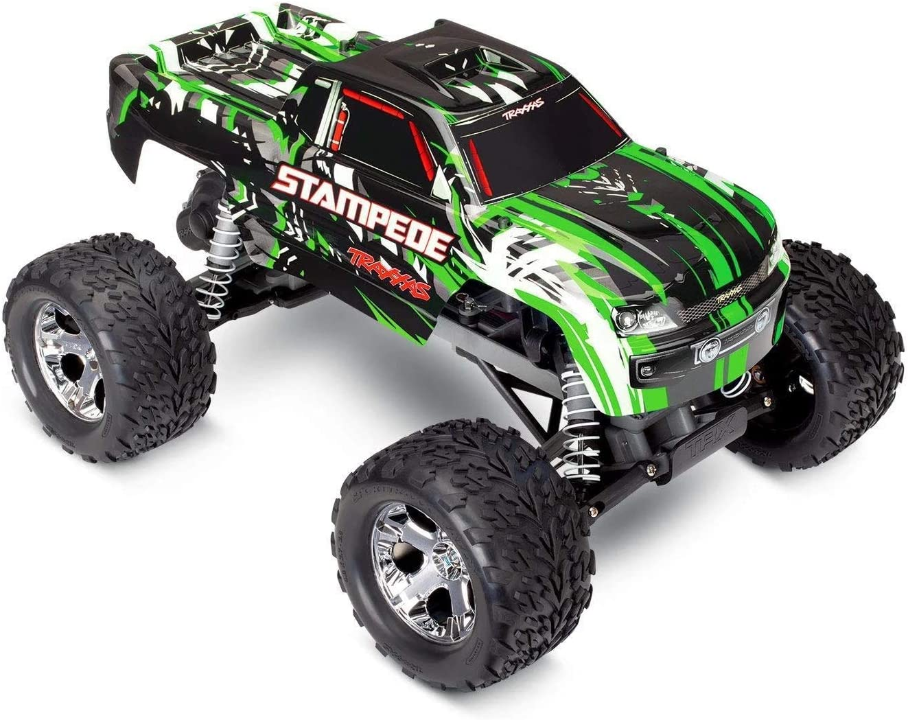 Traxxas 36054-4-GRN Stampede: 1/10 Scale Monster Truck w/ TQ 2.4GHz Radio System