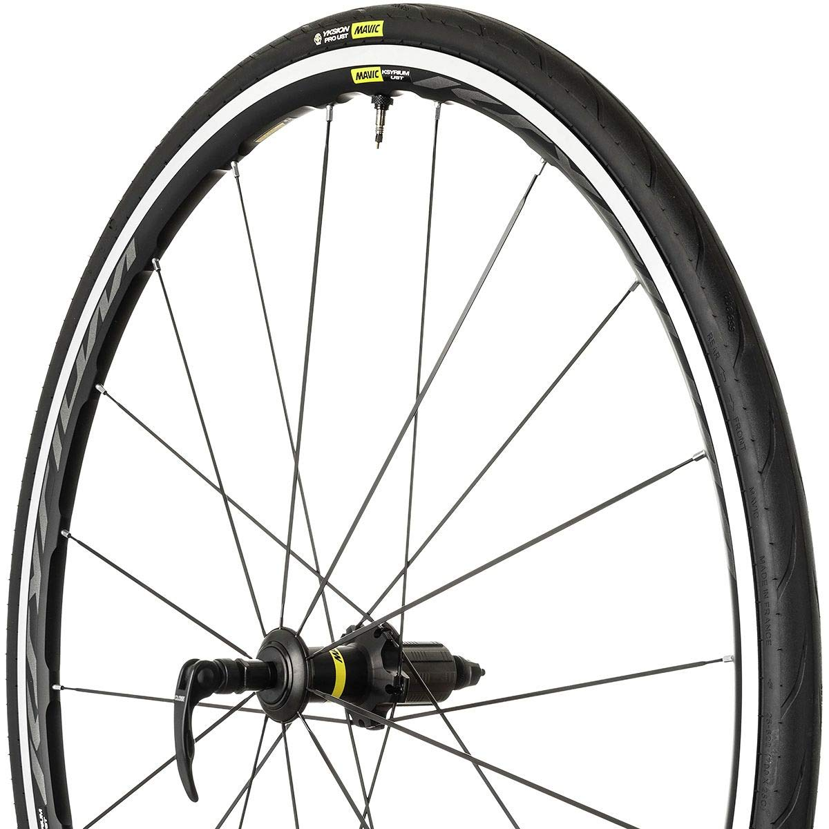 Mavic Ksyrium UST WTS Wheel Black, Front by Mavic