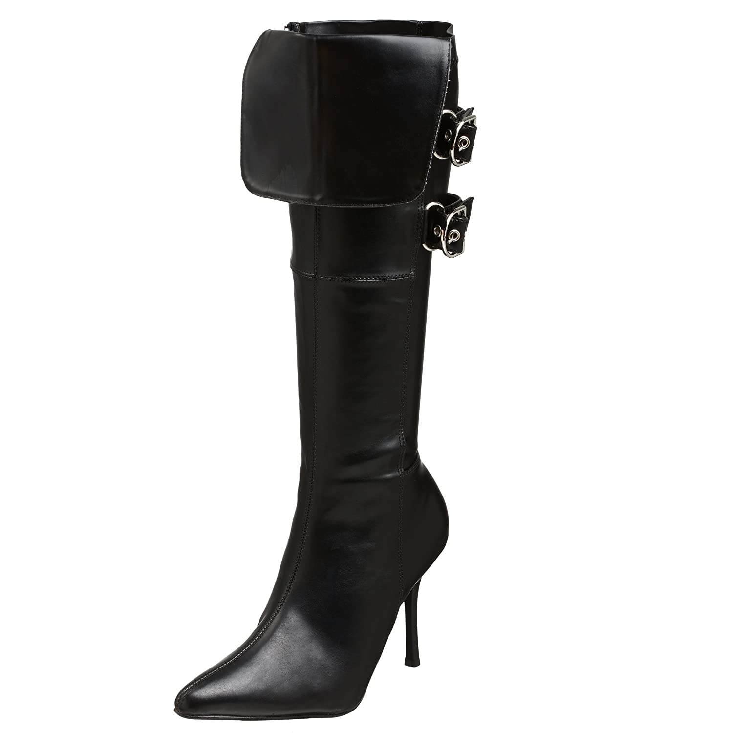 Women's Sexy Black Buckle Cuff Pirate Boots - DeluxeAdultCostumes.com