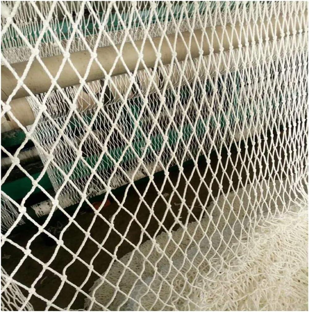 Filet de s/écurit/é blanc Filet de rambarde Filet de cl/ôture de jardin Filet de construction de b/âtiment Filet de protection descalier pour enfants taille: 2 * 3M Diam/ètre de maille 5CM