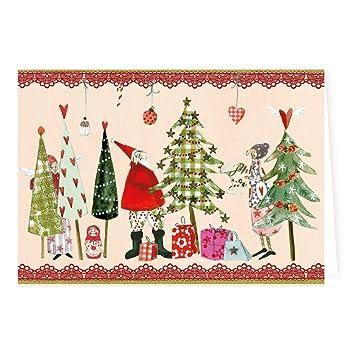 Weihnachtskarten Verlag.Weihnachtskarten Set Von Silke Leffler 6 Klappkarten Mit Umschlag