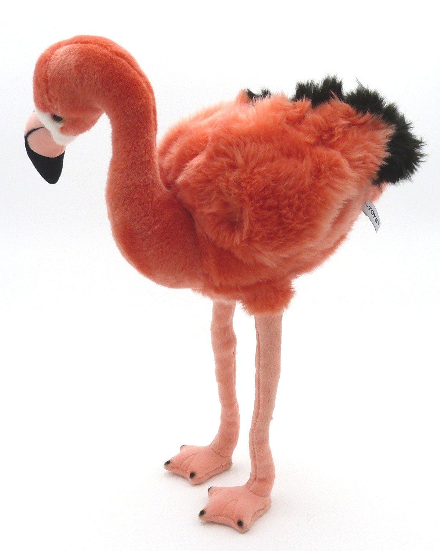 TrachtExemplar Großer und schöner Flamingo Flamingo Flamingo aus Plüsch mit biegbaren Beinen - stehend - ca. 44 cm cbdfc9