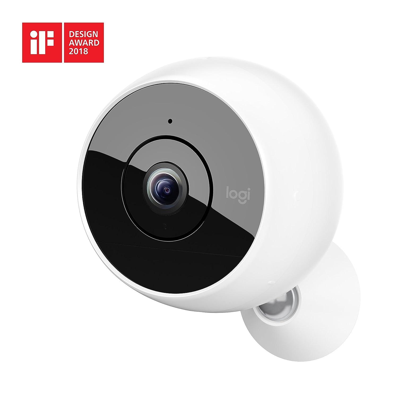 Logitech Circle 2 - Sistema de cámara de Seguridad doméstica sin Cable, visión Nocturna y detección de Personas