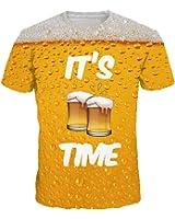 TDOLAH Herren Bunt Galaxy T-Shirt Sport Rundhals Spaß Motiv Tops