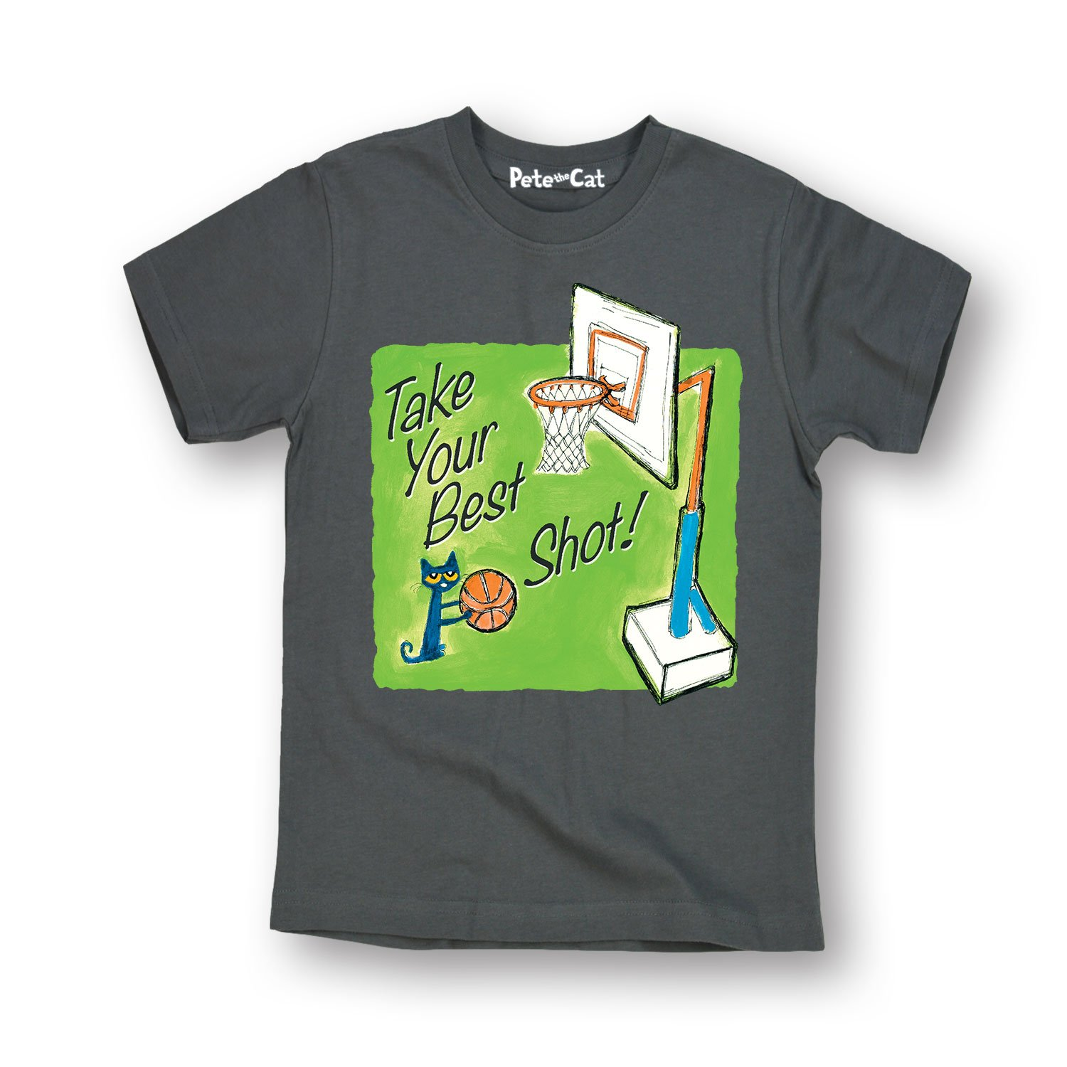 Toddler Short Sleeve Tee Pete the Cat Take Your Best Shot Multi