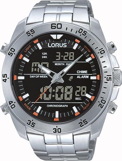 Lorus Reloj Cronógrafo para Hombre de Cuarzo con Correa en Acero Inoxidable RW613AX9
