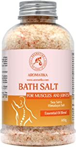 Joint & Muscle Bath Sea Salts 21oz - w/Essential Oils Lavender & Sage & Rosemary - Natural Bath Sea Salts - Soothes Aching Tired Muscles - Detoxifies - Best for Bath - Relaxation - Body Care