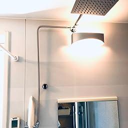 Amazon Thatboyjp シャワーヘッド 高水圧 オーバーヘッド シャワー 人気 節水 マッサージ 降雨 ステンレス オーバーヘッド レインフォール 正方形 超薄型 レインフォレスト体験 洗浄便利 取付簡単 シャワーヘッドセット ホース付き シャワーヘッド ホーム キッチン