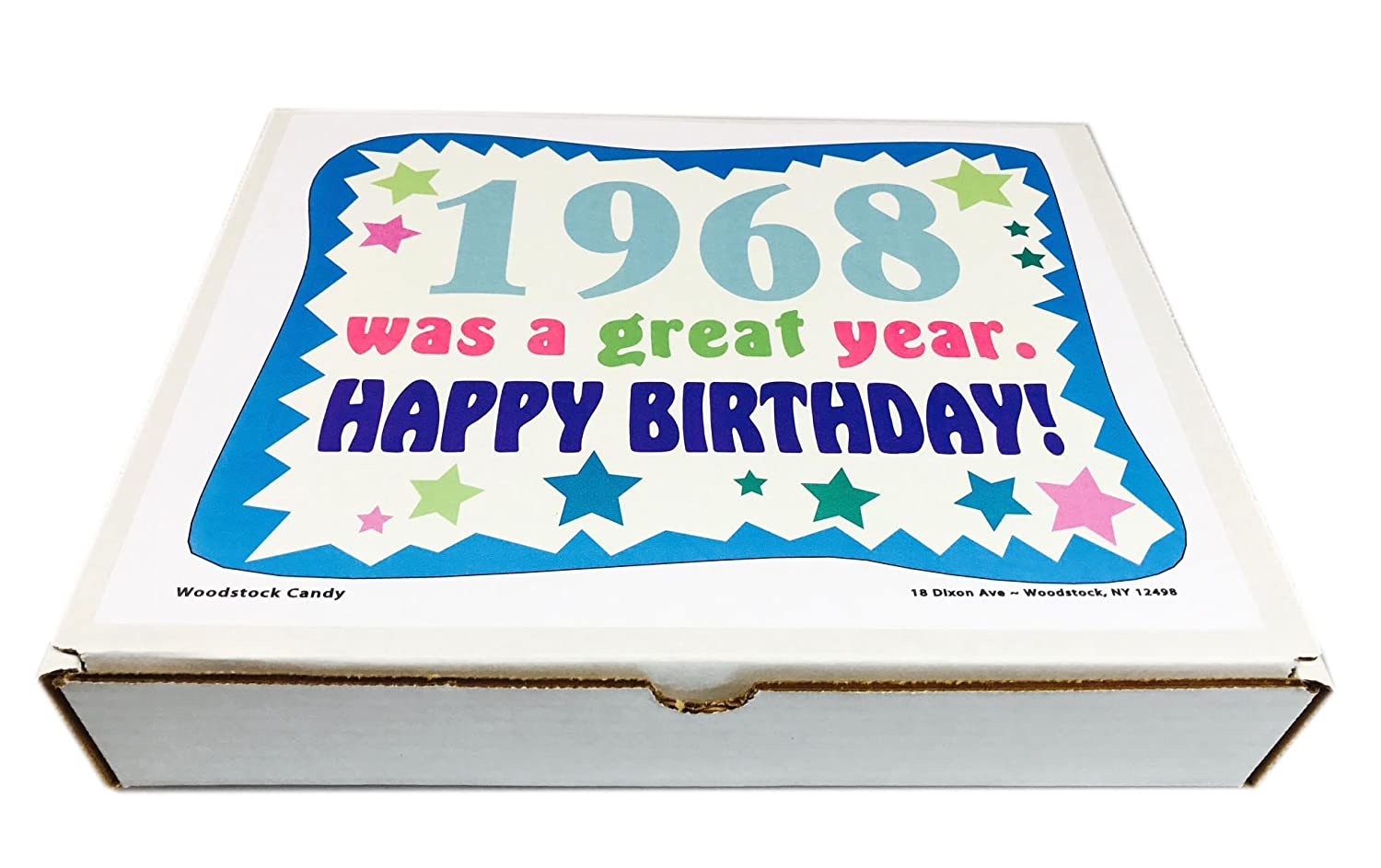 Woodstock Candy 1968 50th Birthday Gift Box Vintage Nostalgic Retro Assortment From Childhood For