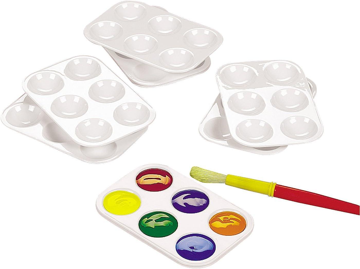 Fun Express Paint Plastic Palettes - 12 Pieces