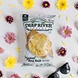 Deep River Snacks 50% Reduced Fat Kettle Cooked Potato Chips, 5-Ounce (Pack of 12)