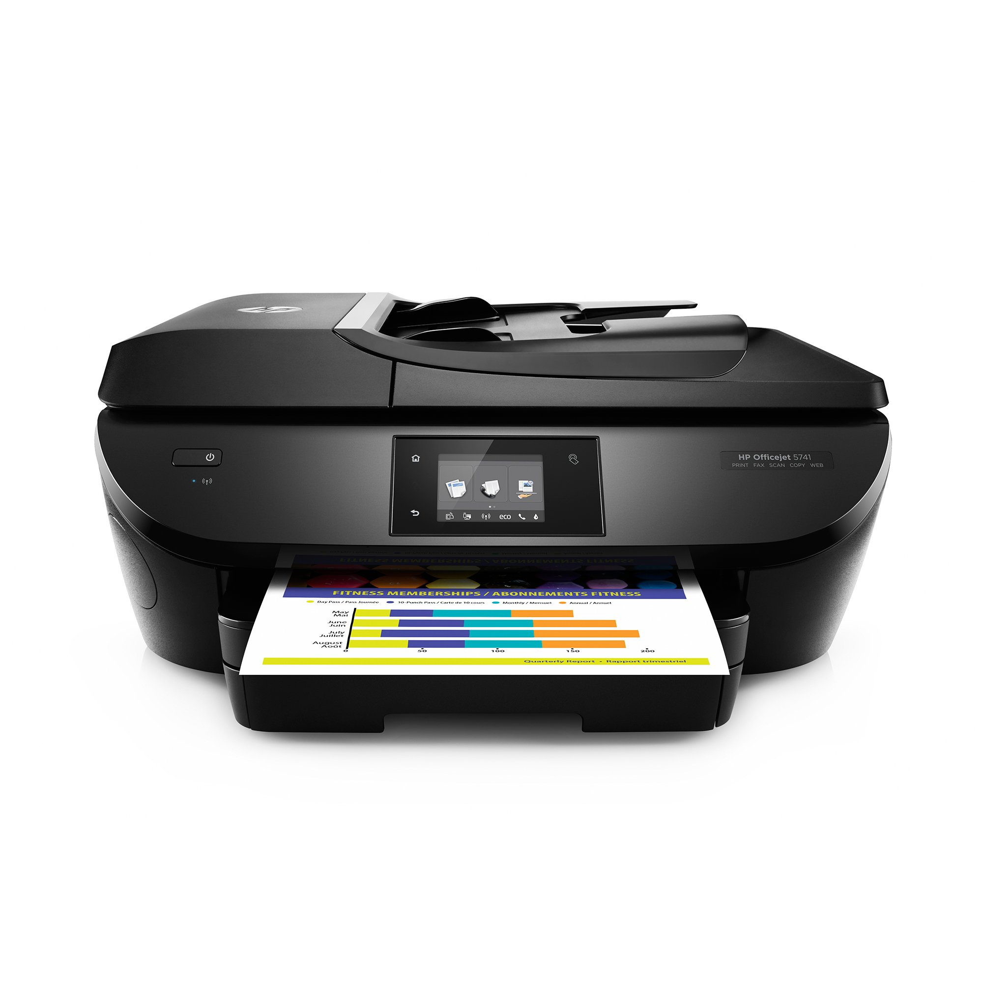 HP OfficeJet 5741 All-in-One Wireless Printer with Mobile Printing, includes 1 year of Instant Ink (B9S83A) by HP