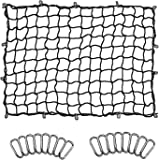 Seven Sparta 5' x 7' Bungee Cargo Net Stretches to 10' x 14' for Truck Bed, Pickup Bed, Trailer, Trunk, SUV with 16…
