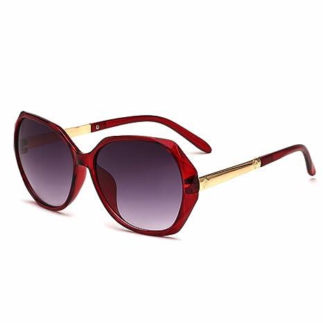 WYXIN Occhiali da sole per donna, occhiali da sole irregolari di personalità di stile europeo ed americano, specchio della rana di tendenza, really white