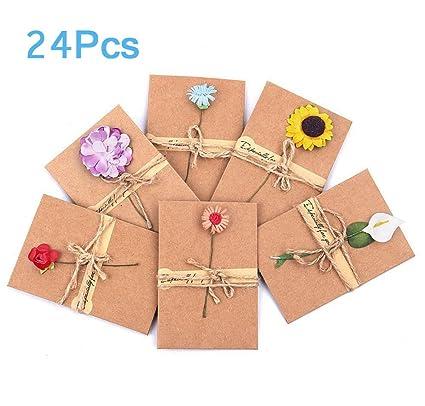 Amazon Com Errollina 24pcs Vintage Retro Handmade Dried Flowers