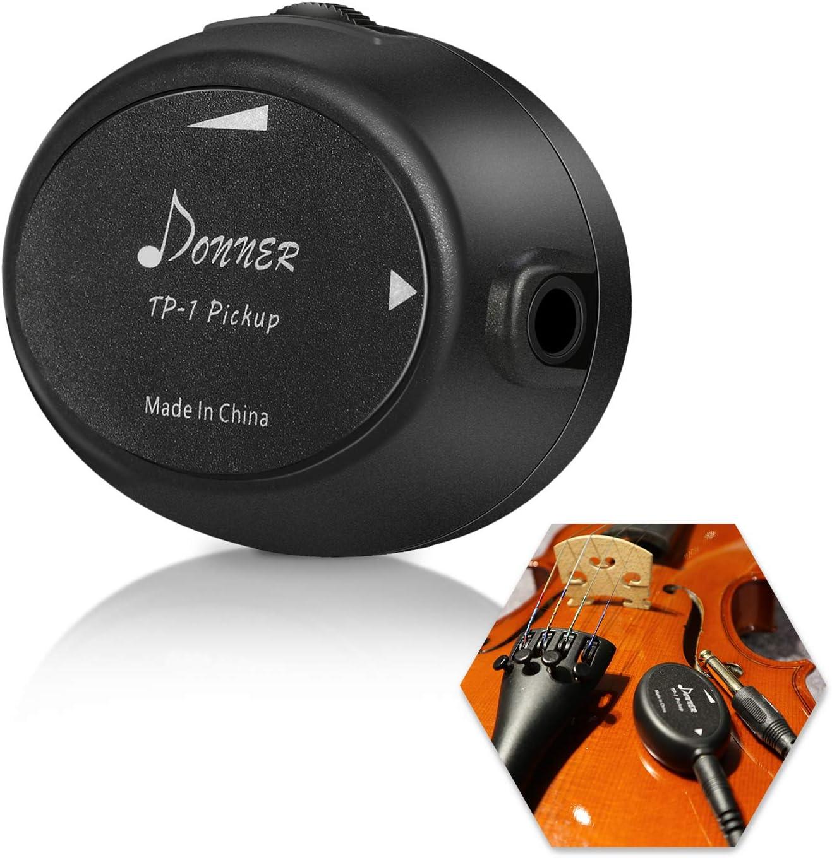Donner TP-1 - Transductor de micrófono para guitarra, ukelele, violín, mandolina, banjo, violonchelo y kalimba