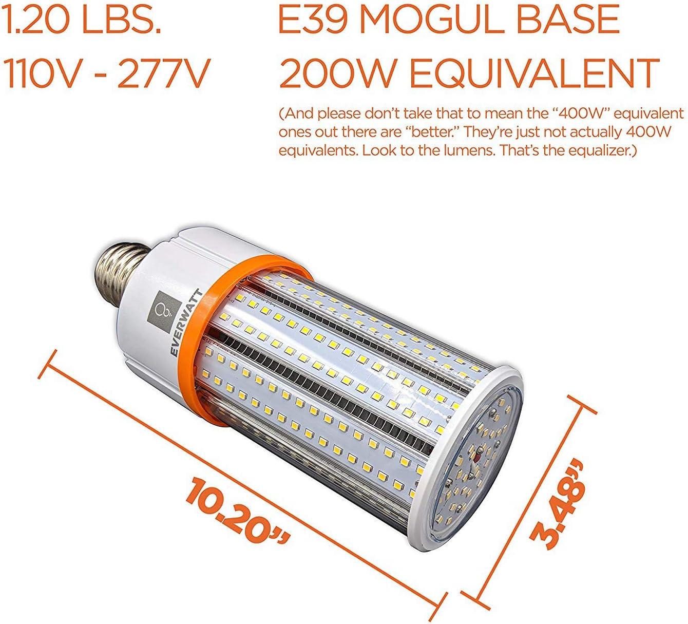 LED Corn Light Bulb IP64 Waterproof Replaces MH 14422 LMS HPS 5000K Indoor//Outdoor Area Light 100W HID Large Mogul E39 Base 400W Metal Halide Equiv CFL