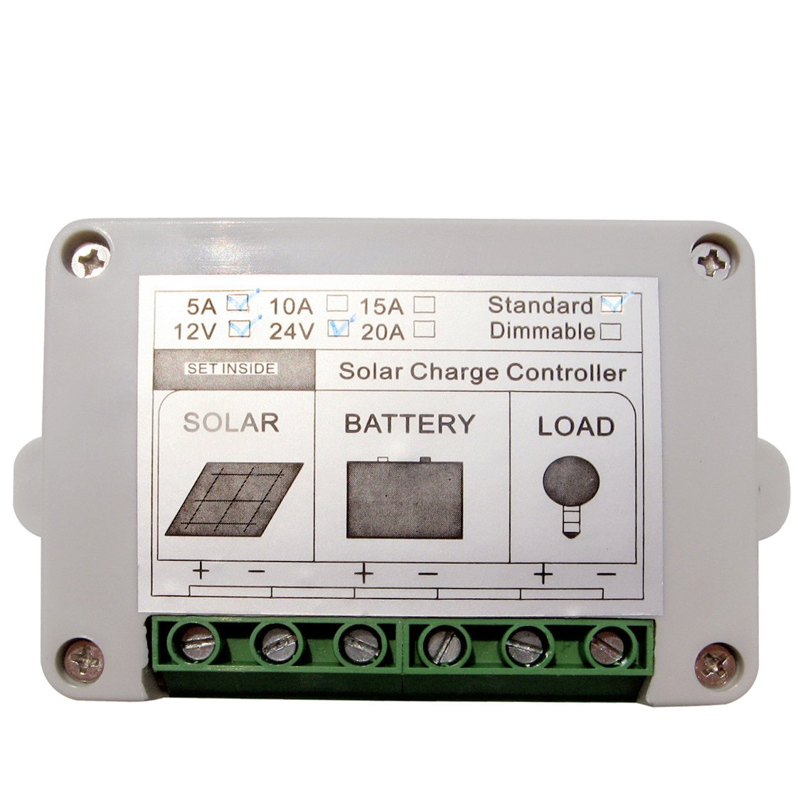 Eco Worthy 15a Pwm Solar Panel Charge Controller 12v 24v 15amp Manual Battery Charger Circuit Regulator Garden Outdoor