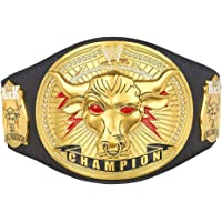 $500 » WWE Authentic Wear The Rock Brahma Bull Replica Championship Title Belt Black/Orange