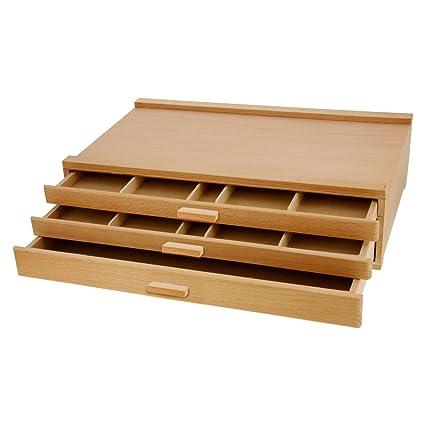 Etonnant US Art Supply 3 Drawer Artist Wood Pastel, Pen, Marker Storage Box