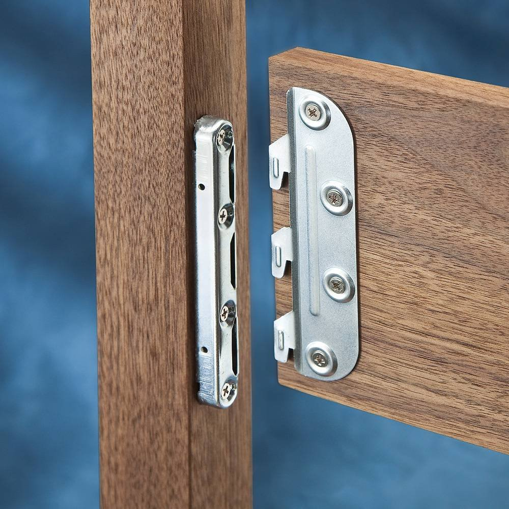 5 in Surface Mounted Bed Rail Brackets
