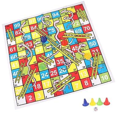 TBoxBo 1pcs Snake Ladder Educational Kids Children Toys Family Interesting Board Game Gifts: Home & Kitchen