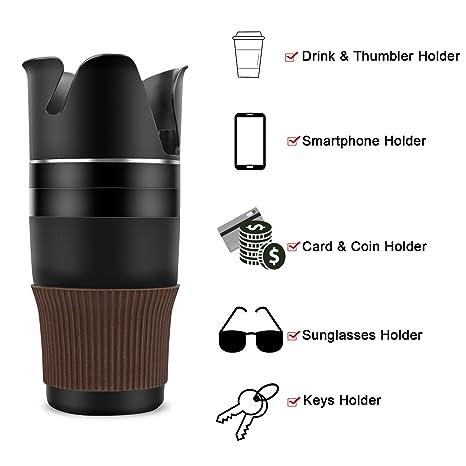 Amazon.es: Portavasos para Coche - Vanwalk 5 en 1 ajustable Auto Multi Cup titular-ajustable y extensible asiento de coche Wedge titular de las gafas de sol ...