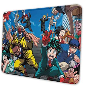 Japan Anime My Hero Academia Mouse Pad with Designs,Anti Slip Cute Mouse Mat for Desktops,Computer,Pc and Laptops,Customized Mouse Pads for Office and Home 8x10inch