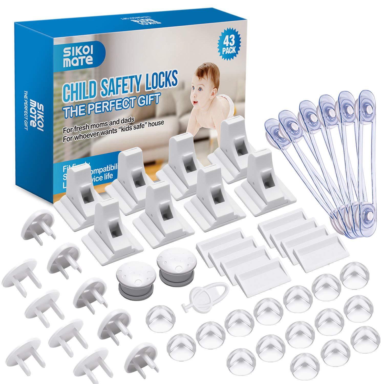 GHB Baby Safety Magnetic Locks Child Safety Locks 8 Locks 2 Keys No Tools Needed for Children Safety White