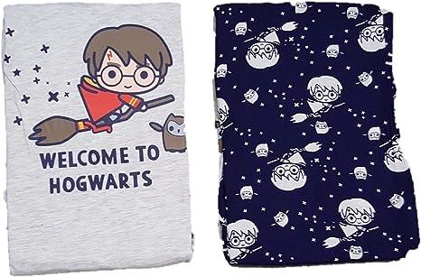 Harry Potter-; Pijama de Pijama de Hogwarts para Mujer, Azul ...