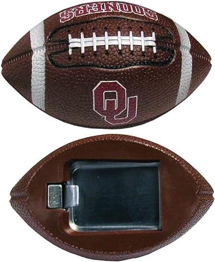 NCAA Oklahoma Sooners Football Bottle Opener Magnet Brown 3-Inch