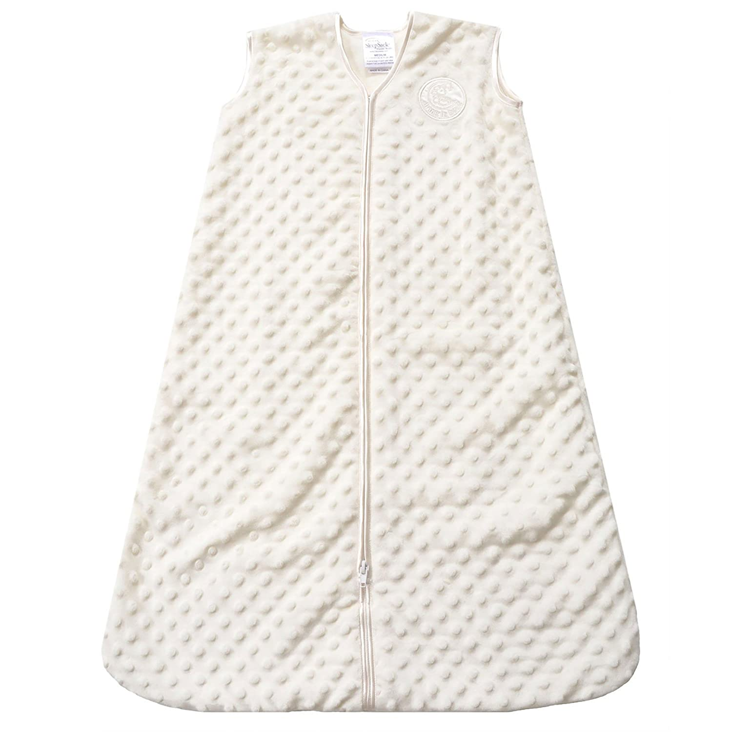 HALO Sleepsack Wearable Blanket, Velboa, Cream Plush Dots, Large: Baby