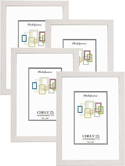 Chely Intermarket, Marco de Fotos 10x15 cm (Blanco) MOD-254 (Pack ...