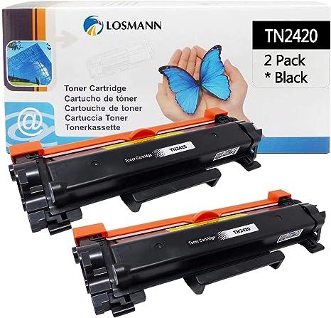 Toner LOSMANN 2x compatible con CHIP para Brother TN-2420 TN-2410 ...