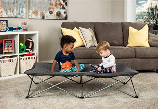 Gray Includes Fitted Sheet and Travel Case Regalo My Cot Extra Long Portable Bed